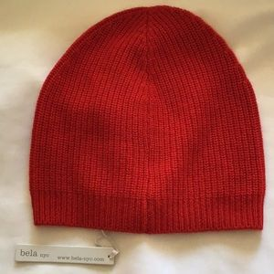 bela nyc. Women's Cashmere Ribbed Beanie